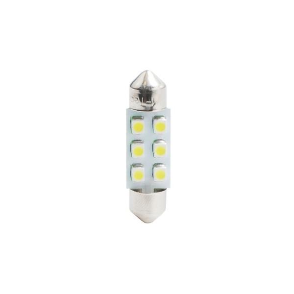 Buislampjes LED C5W/s8.5V 12v 6x SMD 3528 rood
