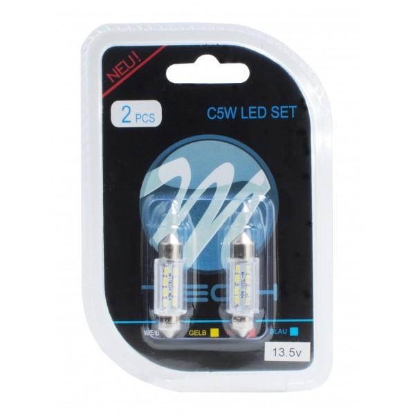 Buislampjes LED C5W 36mm 8xSMD Wit