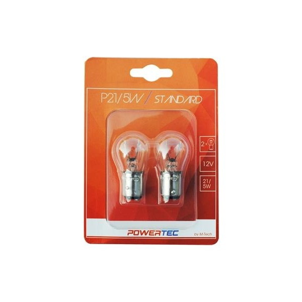 Halogeen Powertec BAY15D lampen P21/5W
