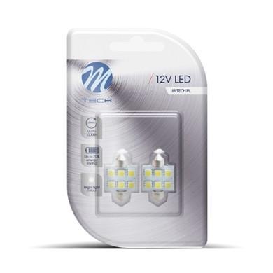 Buislampjes LED C5W/s8.5V 12v 6x SMD 5050 wit