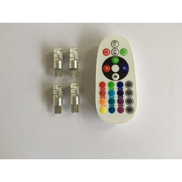 M-tech LED T10 RGB 12V 4 stuks