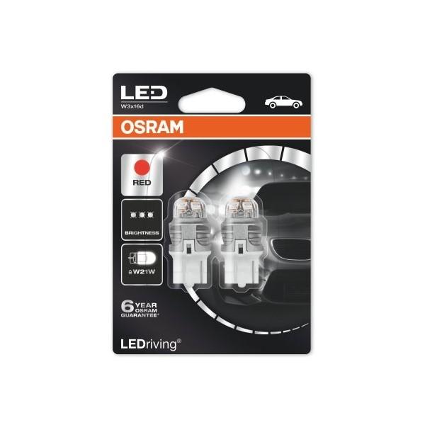 Osram Lamp LED T20 W21W Fitting Rood Ledriving