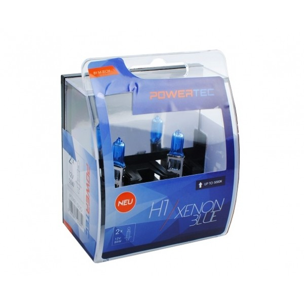 Mtech Powertec XenonBlue H1 lampen 12V DUO