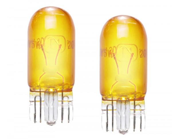 Lampjes T10 W5W geel yellow Retro