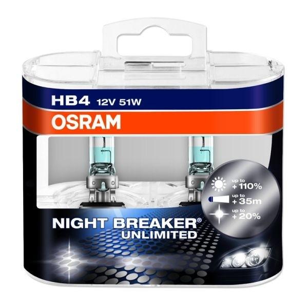 Halogeen OSRAM Nightbreaker Breaker Unlimited HB4 12V 55W 2pcs/b