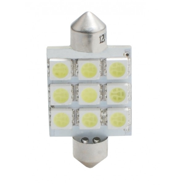 LED Buislampje C5W 41mm 9x SMD wit