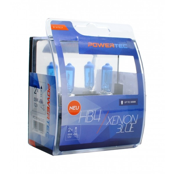 Mtech Powertec XenonBlue HB4 lampen 12V DUO