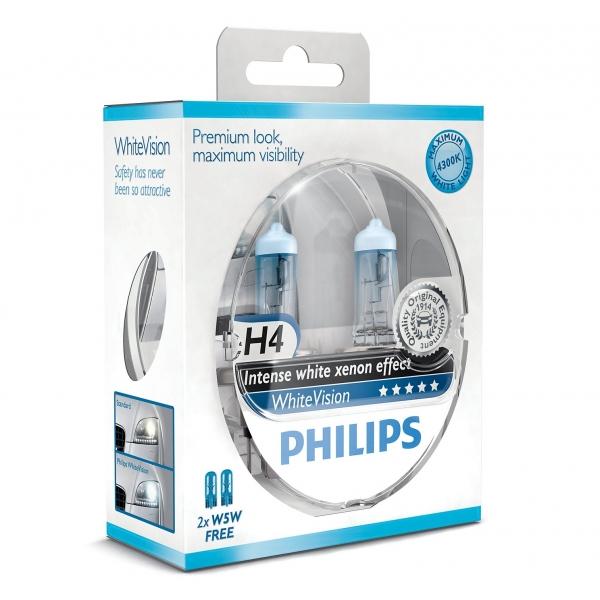 Philips WhiteVison H4 60/55w lampen 12342WHVSM