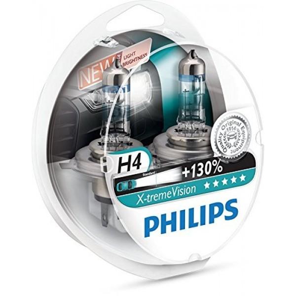 H4 12V 60/55W Philips X-Treme Vision, +100 Lampjes