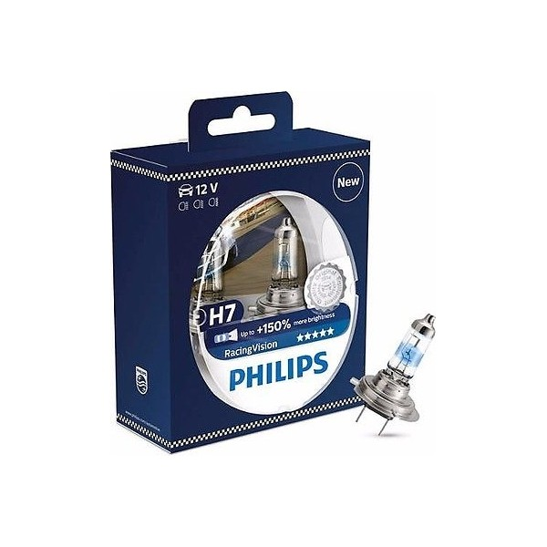 Philips H7 Racing Vision +150% 12972RVS2 Duobox