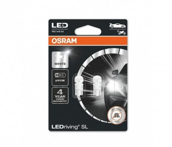 Osram T10 LED Cool White 6000K SL W5W