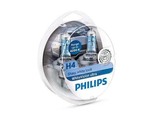 Philips H4 White Vision Ultra 12342WVUSM Doubox