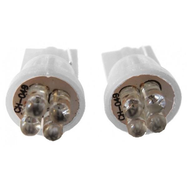 4 LED lamp blauw T10 12V/24V