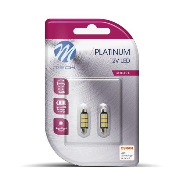 Buislampjes LED C5W 36mm 9xSMD5630 12V Warm Wit Platinum