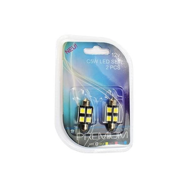 Buislampjes LED Sofitten 36mm - C5W 5xSMD5050 CANBUS - Wit
