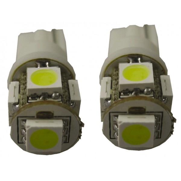 5SMD Stadslicht/zijknipperlicht met steekfitting T10 Wit