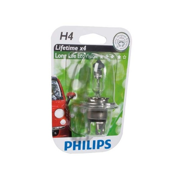 Philips 12342LLECOB1 H4 EcoVision 55W 12V blister