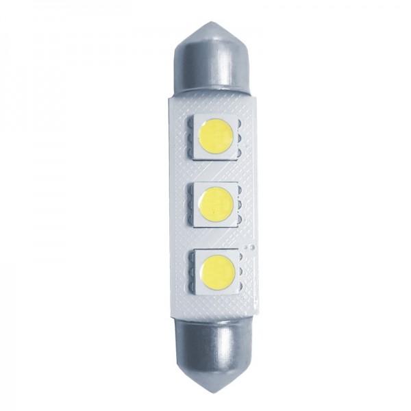 Simoni Racing Festoon 3xSMD Rocket LED Lampen 41mm Wit 2 stuks