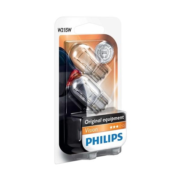 Philips T20 lampen 12066B2 12V W21/5W